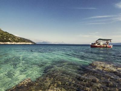 Amazing Adriatic sea in the bay of Selca