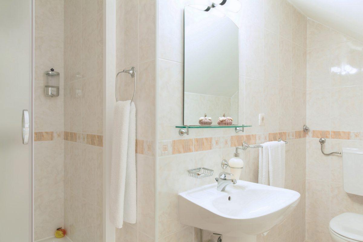 Shower cabin bathroom in the Villa Bonaca