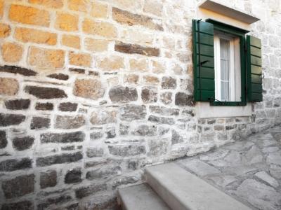 Closer view of the Villa Bonaca a traditional dalmatian stone house