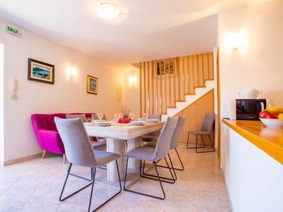 Beautiful modern and illuminated dining room in the Villa Bonaca